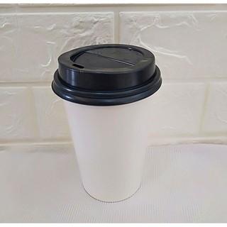 50 Ly Giấy Trắng Trơn 22oz 650 ml Có Nắp Ly giấy đựng trà sữa Ly giấy 700ml Cốc giấy Ly giấy cafe thumbnail