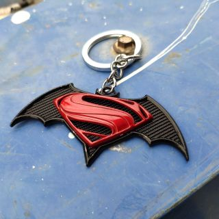 Mô hình Batman vs Superman, móc treo chìa khóa DC Comics, batman superman figure