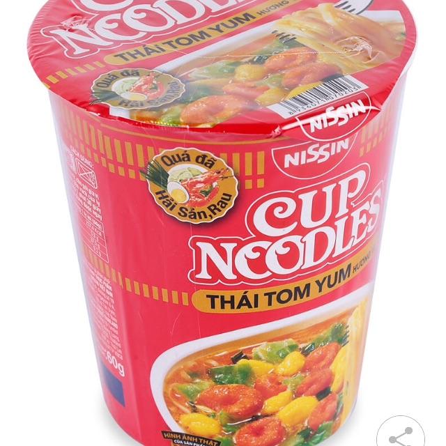 Bộ 10 ly mì nissin + kim chi cải thảo chay 500g