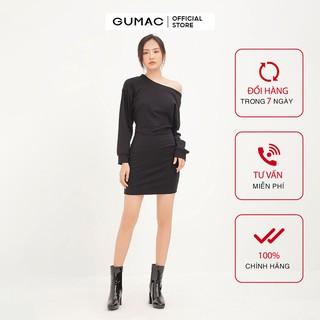 [Mã FASHION10KP giảm 10K đơn 50K] Đầm thun nữ GUMAC tay dài bẹt vai, đủ màu đủ size DA1291 thumbnail