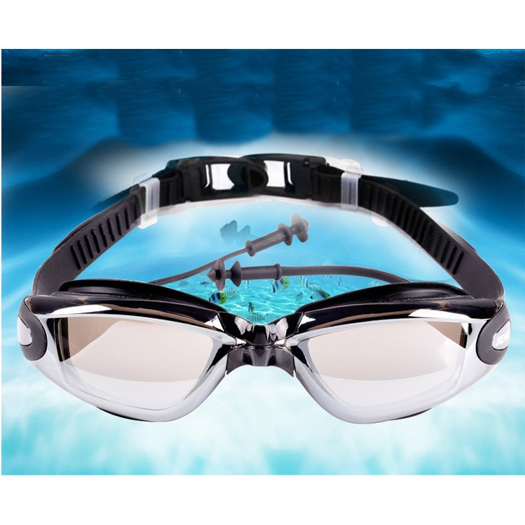 [Mã MASOIC giảm 20K đơn BẤT KÌ] Kính bơi người lớn tráng bạc chống tia UV SENYU10