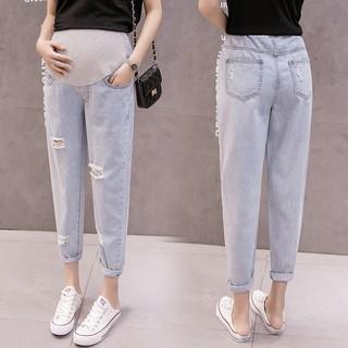 [Order 7-12 ngày] Quần bò, quần jeans lưng cao dài cho bà bầu – XN07