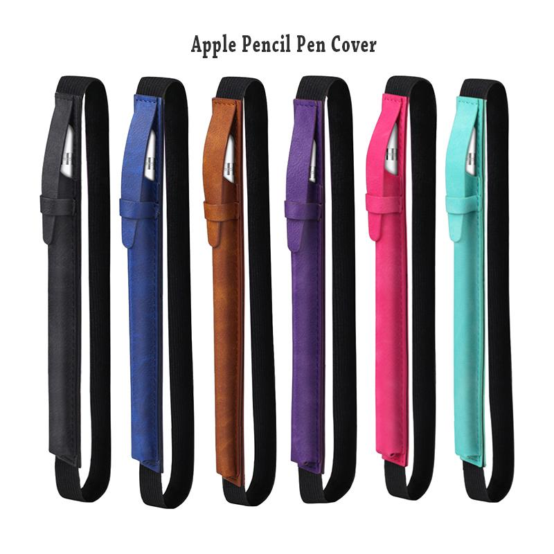Apple Pencil Case Holder Premium PU Leather Elastic Apple Pencil Sleeve Pouch Protection Case for iPad Tablet Pencil