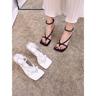 [Mã FASHIONG10 giảm 10k đơn từ 50k] [Xưởng giày Cao cấp] Sandal gót nhọn 6p quai mảnh xỏ ngón hàng VNXK xịn xò thumbnail