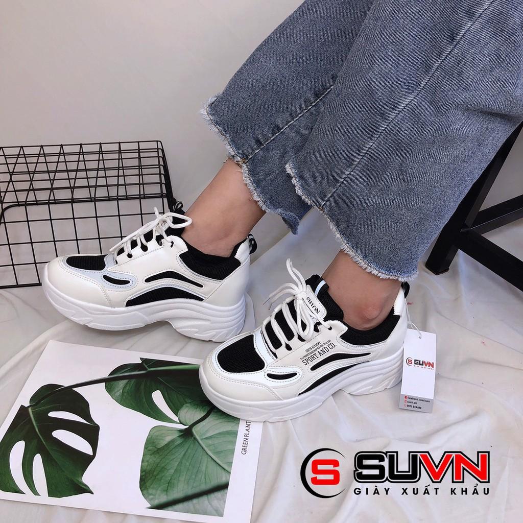 Giày thể thao nữ sneaker phối màu độn 6cm tăng chiều cao
