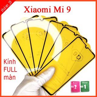 Kính cường lực Xiaomi MI 9 full màn hình, Ảnh thực shop tự chụp, tặng kèm bộ giấy lau kính taiyoshop2 thumbnail