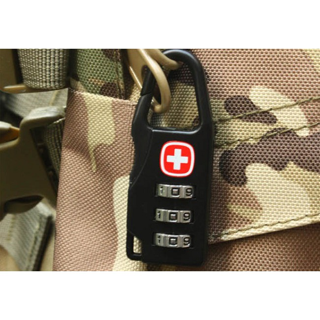 Ổ khóa số Swiss cho vali, balo,.. khi đi du lịch mini tiện dụng