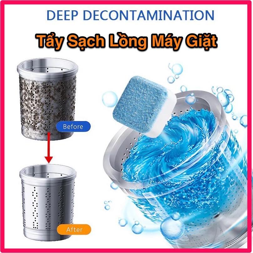 Viên tẩy vệ sinh máy giặt, bột giặt omo nước xả quần áo dnee VT32 thegioiphukien