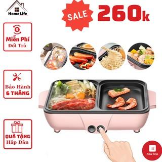 Bếp Lẩu Nướng Đa Năng 2 Ngăn Nồi Mini Nướng 2 in 1 Z9 Hàn Quốc Chính Hãng