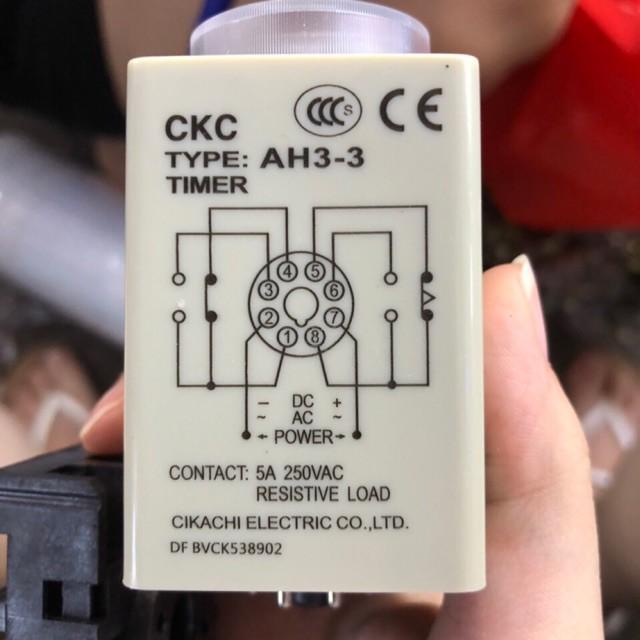 [VN] Rơle trễ thời gian 60s (relay) và đế kèm theo CKC AH3-3 - 22742941 , 2176396815 , 322_2176396815 , 95000 , VN-Role-tre-thoi-gian-60s-relay-va-de-kem-theo-CKC-AH3-3-322_2176396815 , shopee.vn , [VN] Rơle trễ thời gian 60s (relay) và đế kèm theo CKC AH3-3