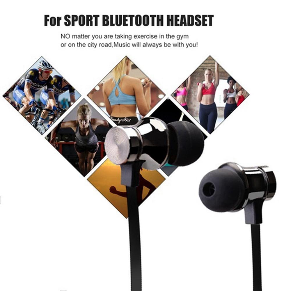 Tai nghe không dây Bluetooth thể thao có Mic Bass Tai nghe từ tính cho điện thoại di động