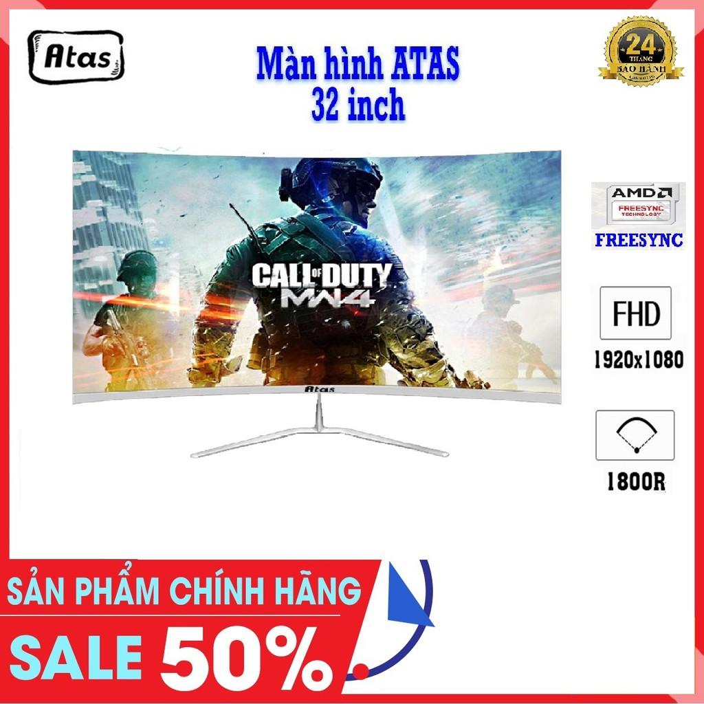 Màn hình Máy Tính 32 Inch Cong Chuyên Game ATAS Q318 Plus - AMD Fresssync - Tần số 165Hz