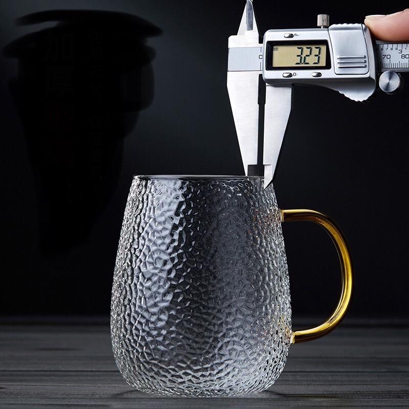 Cốc lọc trà thủy tinh, cốc pha trà thủy tinh có nắp giữ nhiệt, thủy tinh cao cấp borosilicate