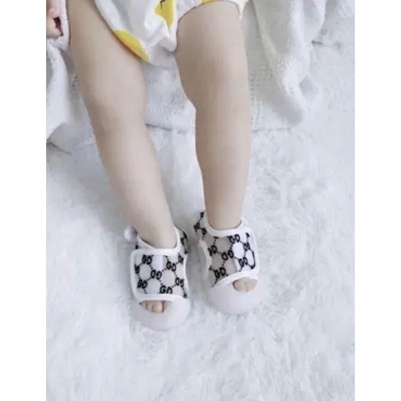 Sandal quai dán cho bé ❤️FREESHIP❤️ Dép Sandal chống vấp quai dán đan lưới mùa hè cho bé trai bé gái thoáng chân