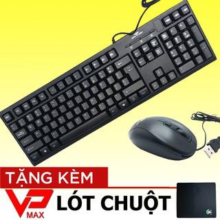 Bộ chuột & bàn phím văn phòng chơi game Warship GK1000 tặng lót chuột thumbnail