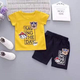 Set bộ quần áo tre em bộ saving chất vải cotton đẹp dành cho bé trai từ 8-18kg