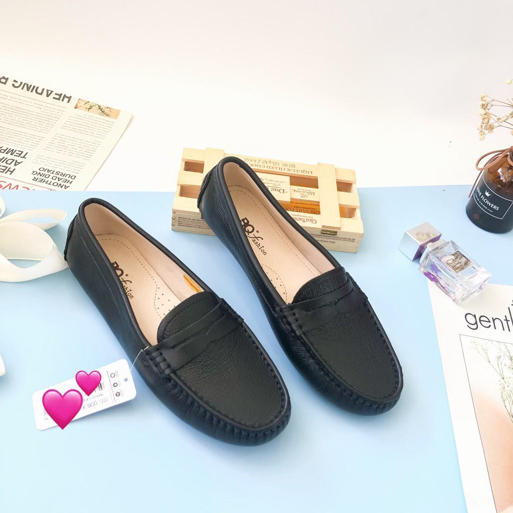 Giày mọi nữ BQ ❤️FREESHIP❤️ da bò thời trang cá tính GC006