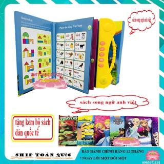 [hot] Sách Song Ngữ Anh Việt Cho Bé Tặng Kèm Sách Dán cho bé ( có bán sách dán riêng) thumbnail