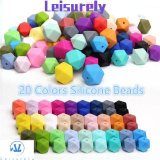 💜LEILY💜 10Pcs 14mm Safety Healthy Hexagon Food Grade Bracelet Baby Teether