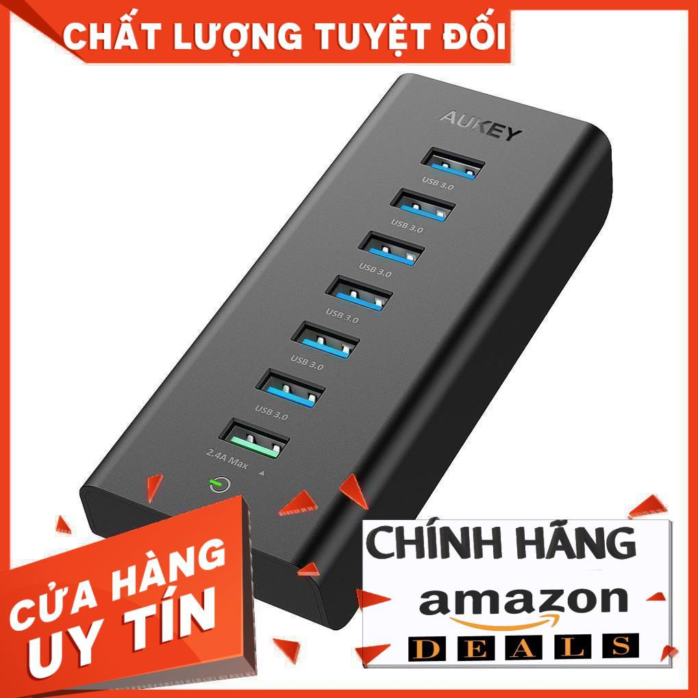 AUKEY USB 3.0 Hub 6 Cổng USB 3.0, 1 Cổng sạc Aipower và 1 Cổng USB Hub Giá chỉ 1.210.000₫