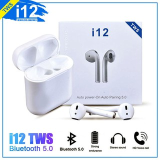 [Mã SR14MAY5 giảm 20K đơn 50K] Tai Nghe Bluetooth không dây i7s, i12, i200 - Loại 2 tai nghe âm thanh CỰC HAY