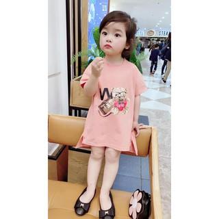 Bán sỉ váy in hình gấu cute cho bé gái