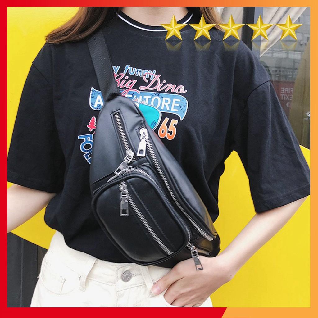 Túi đeo chéo thời trang da Pu style Lắc xích
