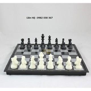 Bộ bàn cờ vua nam châm màu đen trắng