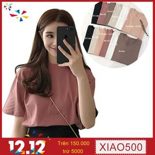 Xiaozhainv💕 oversized tee basic t-shirts koreanfashion simple white blouse
