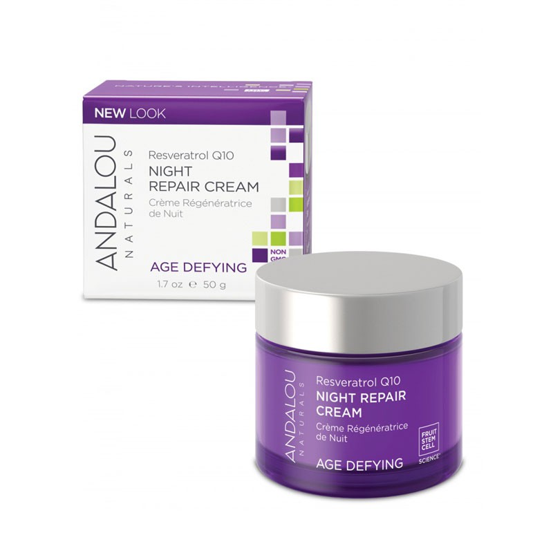 Kem tái tạo da ban đêm Resveratrol Q10 Night Repair Cream - Andalou