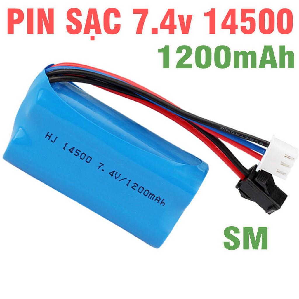 Pin 7.4v 14500 1200mah dùng cho xe điều khiển từ xa đồ chơi trẻ em