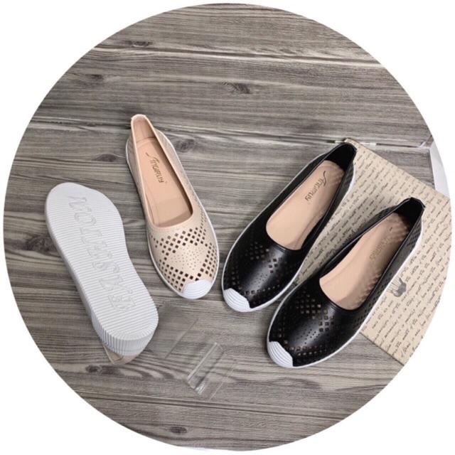 Giày mọi, giày slipon đế bằng êm chân
