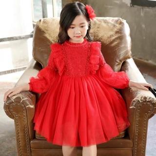 Váy nhung đỏ