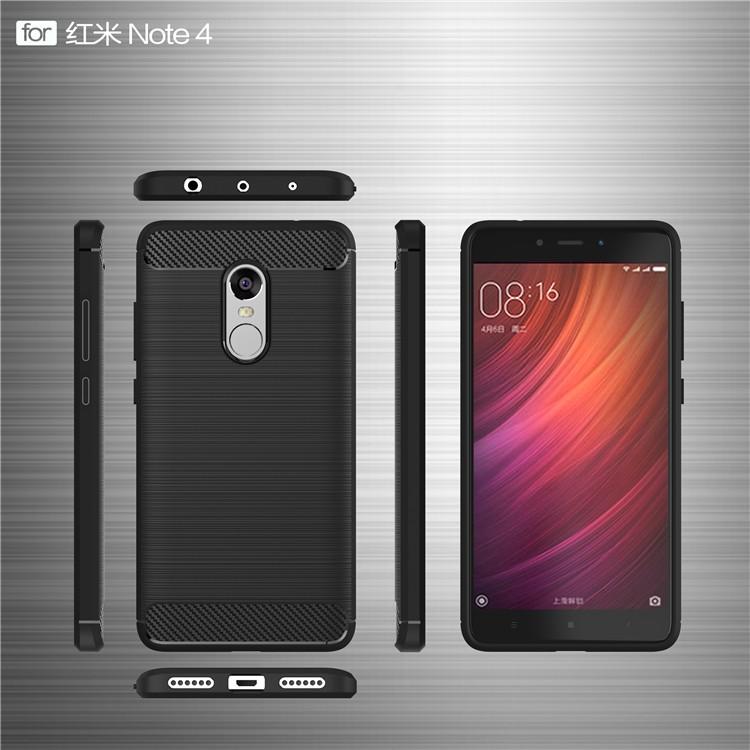 Ốp điện thoại silicon bảo vệ điện thoại Xiaomi Redmi Note 4