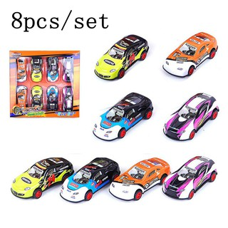 8pcs/set Cool Toys Car For Kids Little Ones Diecast Model Toy Vehicle