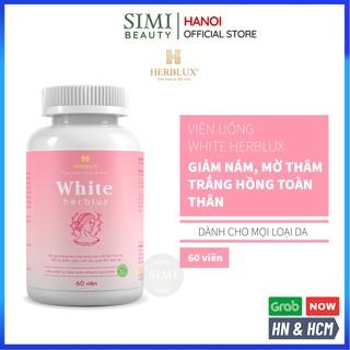 Viên uống trắng da WHITE HERBLUX chống lão hóa collagen làm đẹp da giảm thâm nám glutathione SIMI thumbnail