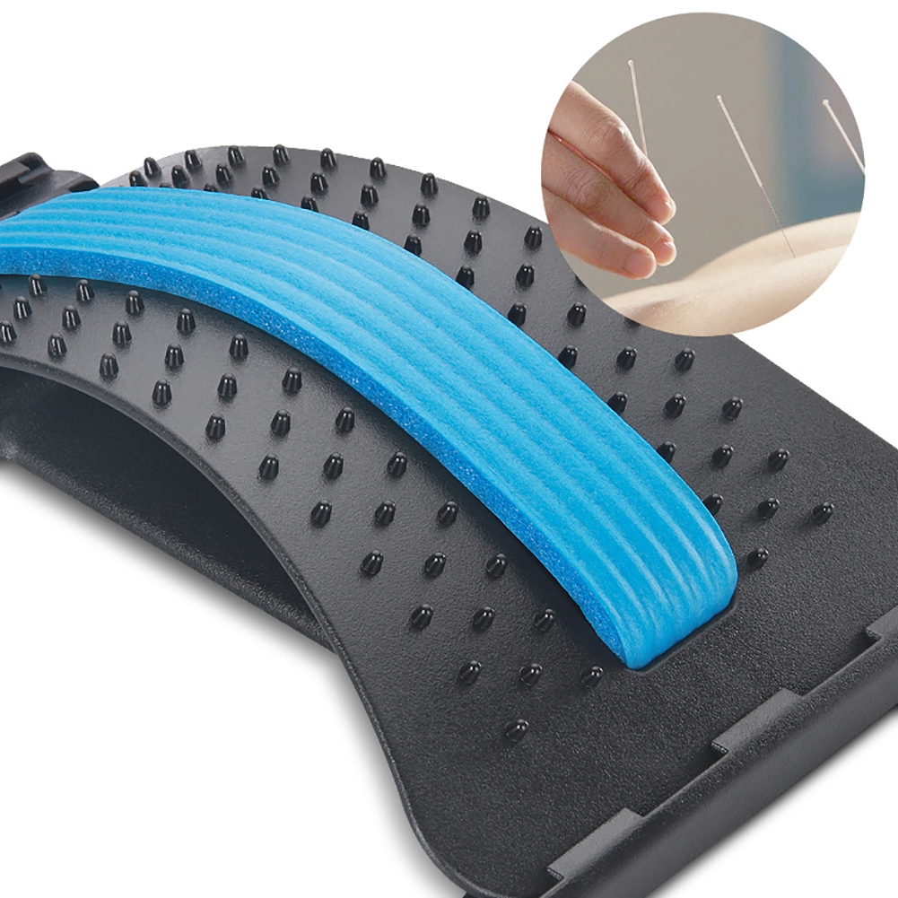 Health Care Back Stretch Equipment Massager Stretcher Fitness Lumbar Support Relaxation Spine Pain Relief Corrector