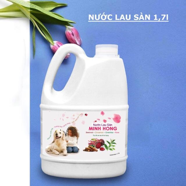 Nước lau sàn khử mùi chó mèo Minh Hồng 1.7l