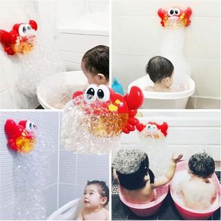 Cua Thổi Bong Bóng có nhạc có bộ hít dính tường cho bé chơi phòng tắm