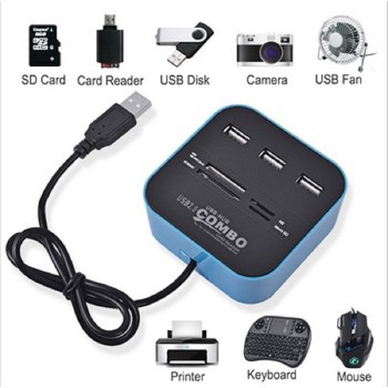Đầu đọc USB 2.0 + thẻ nhớ cho máy tính, pc laptop -dc545.