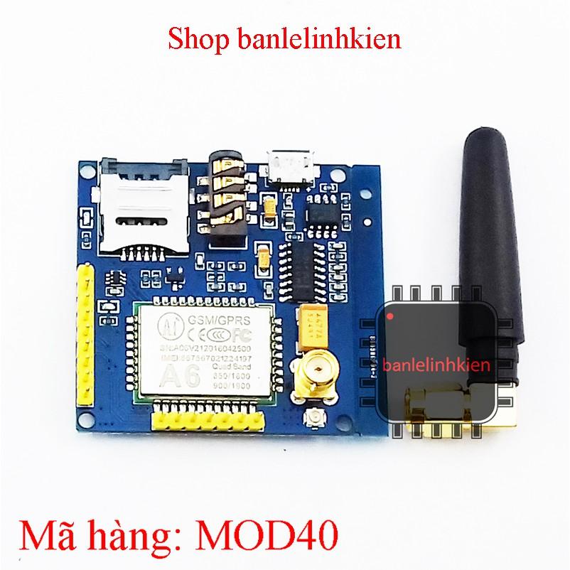 Module truyền thông qua mạng di động GPRS/GSM A6 - 3380750 , 602839332 , 322_602839332 , 195000 , Module-truyen-thong-qua-mang-di-dong-GPRS-GSM-A6-322_602839332 , shopee.vn , Module truyền thông qua mạng di động GPRS/GSM A6