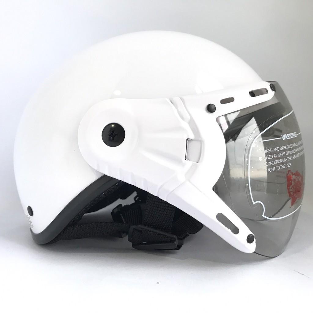 [GIÁ HỦY DIỆT] Mũ bảo hiểm 1/2 đầu có kính - VS105K - Trắng tinh khôi