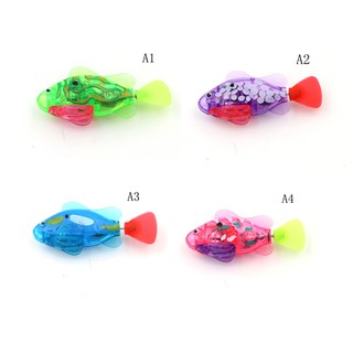 ♫♪1Pcs Bath Toy For Children Light sensor Robofish Electronic Fish Toy