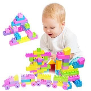 Set 46 miếng đồ chơi lắp ráp nhiều màu cho trẻ em sáng tạo