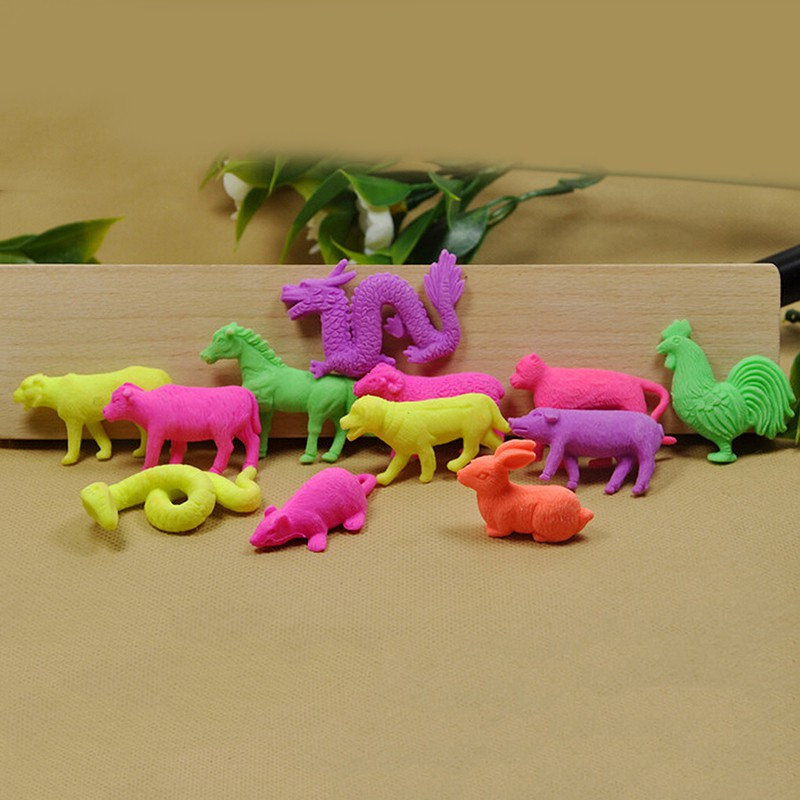 Baω 10 Pcs/Set Growing Animal Toys Water Expansion Toy Colorful Creative Kids Toys ωby