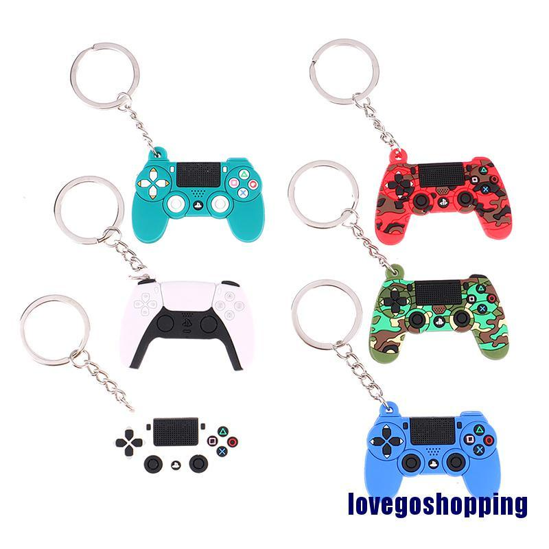 Cute Game Machine Keychain Gamepad Joystick Key Chain PS4 Game Console Keychains