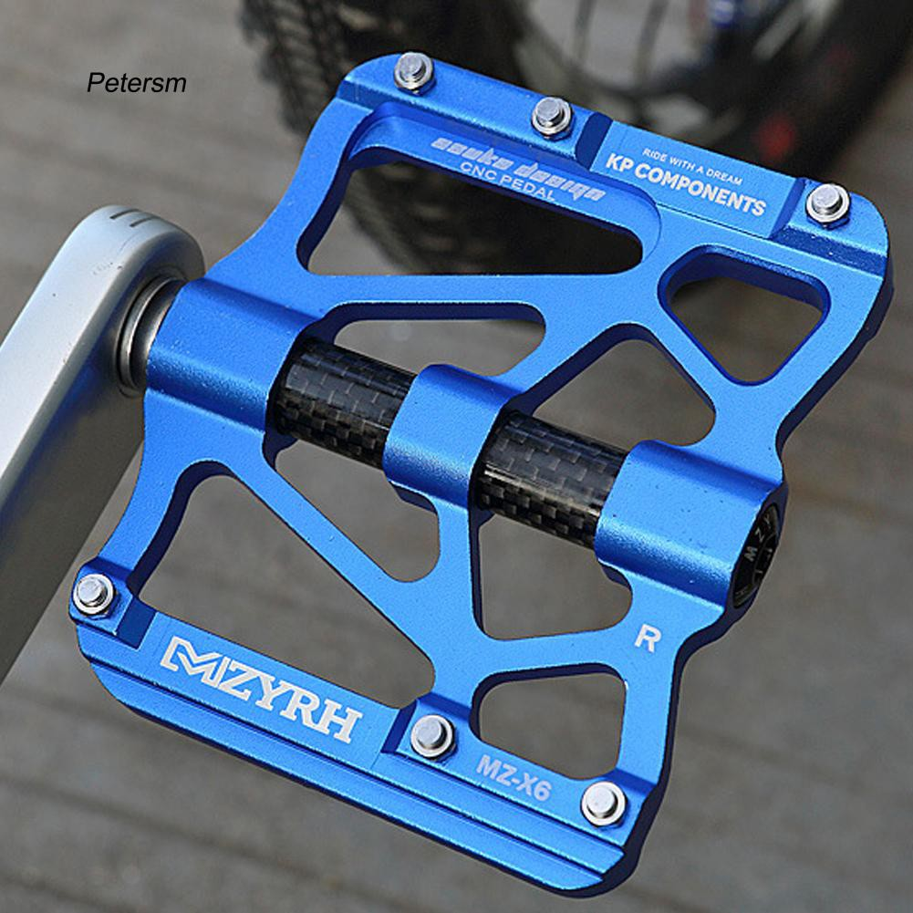 PTSM_1 Pair CNC Aluminium Alloy Ultralight Antiskid Sealed Bearing MTB Bicycle Pedals