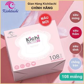 Miếng Lót Thấm Sữa Kichilachi Hộp 108 Miếng, Siêu Thấm, Siêu Dính, Siêu Mỏng,Chống Tràn