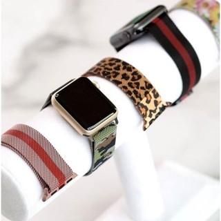 Dây thép milanese Apple Watch sọc, hoa văn full size 38/40mm 42/44mm
