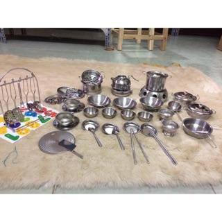 Bộ đồ chơi nấu ăn inox 44 chi tiết